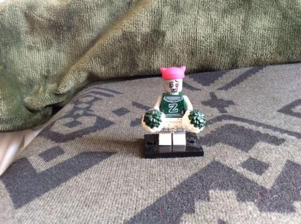 Lego zombie cheerleader
