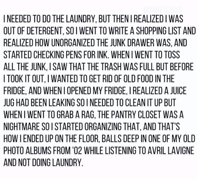 ADHD cleaning